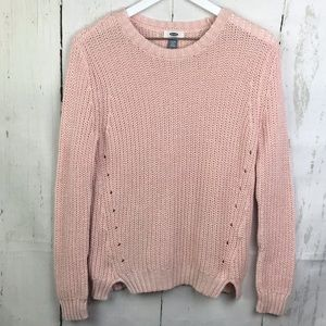 Old Navy Open Knit Crewneck Sweater Girls Sz 14
